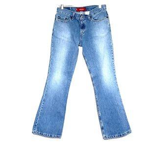 LEVIS 518 Superlow Boot Cut Denim Blue Jeans Short
